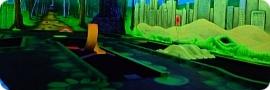 Schwarzlicht-Minigolf