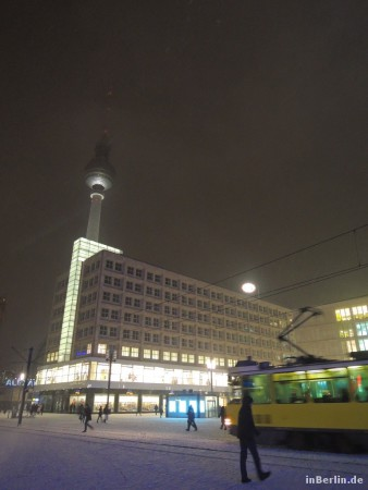 Berlin Alexanderplatz im Winter