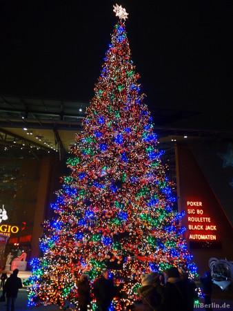 Berliner Weihnachtsbaum am Potsdamer Platz