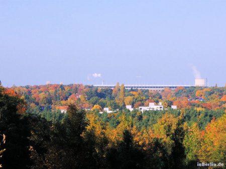 Herbst im Grunewald - Blick zum Olympiastadion